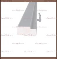 КОМПЛЕКТ дверной ламинированной коробки (3 шт.)  (для двухстворчатой двери)  мм. Белый, Серый RAL 7040 + петли  ПНН 80 хром 4 шт.: