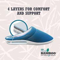 Домашние тапочки Cool Bamboo Anti-Fatigue Gel Slippers_4