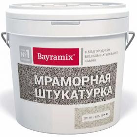 Декоративная Мраморная Штукатурка Bayramix Эконом 15кг с Естественным Блеском Натурального Камня / Байрамикс Эконом