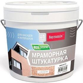 Декоративная Мраморная Штукатурка Bayramix Ecostone 15кг с Естественным Блеском Натурального Камня / Байрамикс Экостоун