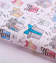Бумага упаковочная глянцевая «Подарочки», 70×100 см