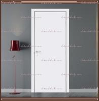 Дверное полотно Белое крашеное с притвором и врезкой под замок 2014/2018, размер М7,М8,М9,М10 :