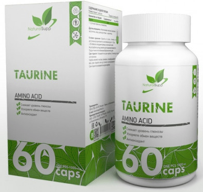 Taurine от NaturalSupp 60 кап