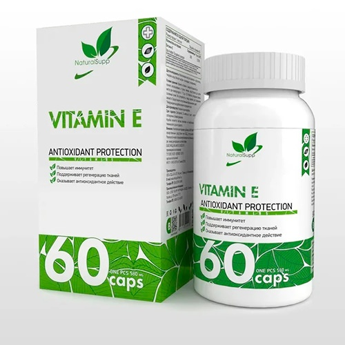 Витамин Е 200 UI от NaturalSupp 60 кап