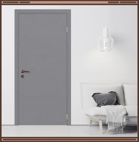 Дверное полотно Серое RAL 7040  крашеное с притвором и врезкой под замок 2014/2018, размер М11 :