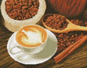 Алмазная мозаика «Чашка кофе» 30x40 см