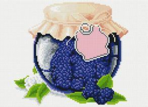 Алмазная мозаика «Ежевичное варенье» 30x40 см