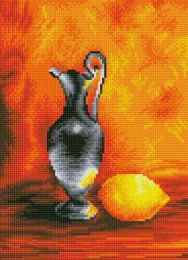 Алмазная мозаика «Кувшин с лимоном» 30x40 см