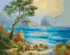 Алмазная мозаика «Голубая волна» 40x50 см