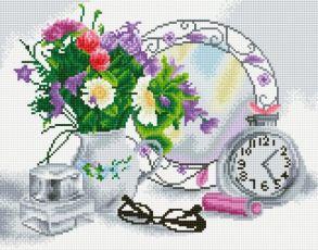 Алмазная мозаика «Цветочное настроение» 40x50 см