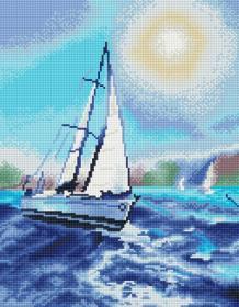 Алмазная мозаика «Под белым парусом» 40x50 см