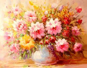 Алмазная мозаика «Букет нежных цветов» 40x50 см