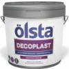 Декоративная Штукатурка Короед Olsta Decoplast 10л (15кг) Силиконовая / Ольста Декопласт