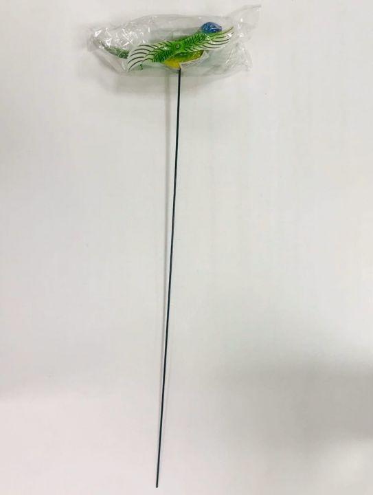 Фигурка декор. на металл. стержне Птички 4 х 15см, 60см стержень