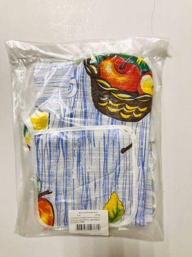 Комплект подарочный чесуча (фартук, прихватка, руковица) арт.КПЧ-12366