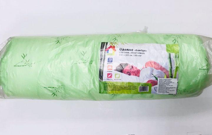 Одеяло Бамбук стеганое облегченное 150г/м полиэстер 140*205см