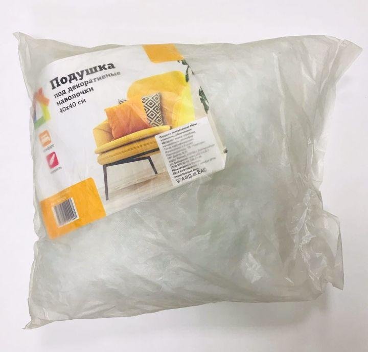 Подушка под декоративные наволочки 40х40см