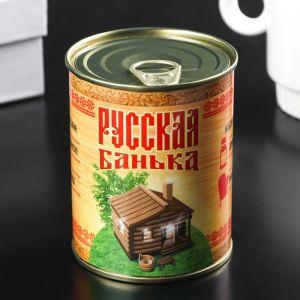 Сувенирная банка. Русская банька (Аромамасло + рукавица) 4788464