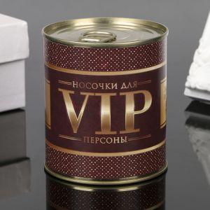 "Носки в банке ""Для VIP персон"" (внутри носки женские, цвет микс) 4359567"