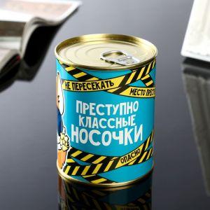 """Носки в банке """"Преступно классные"""" (мужские, цвет черный)   4516049"""