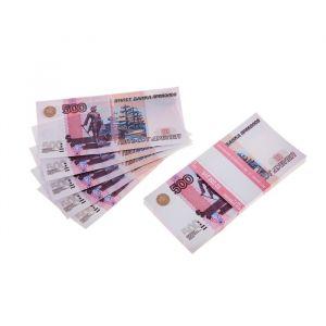 Пачка купюр 500 рублей 770170