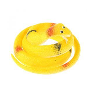 Прикол «Кобра», резиновая, 70 см, цвет жёлтый