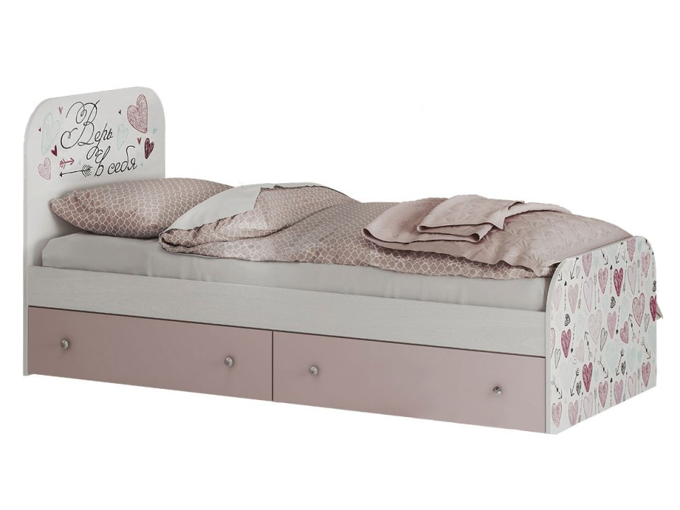 """коллекция """" малибу""""кровать детская с ящиками"""
