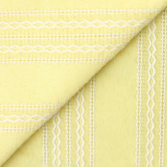 Лоскут ткани Хлопок с выработкой Шитьё на лимонном 50х37