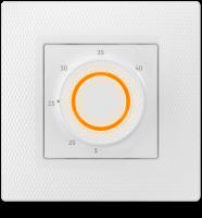 Электронный терморегулятор Теплолюкс LumiSmart 25 встраиваемый с индикацией для теплого пола белый