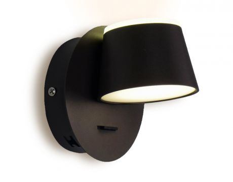 Настенный светодиодный светильник с выключателем FW168 CF/S кофе/песок ambrella