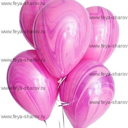 "Шар 11"" (25см) Агат Pink Violet"