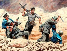 Фигуры Советские морские пехотинцы и немецкая Пехота, рукопашный Бой, 1941-1942 гг. Восточный Фронт,