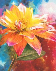 Алмазная мозаика «Оранжевая Лилия» 40x50 см