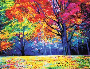 Алмазная мозаика «Радужный лес» 40x50 см