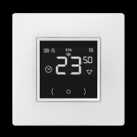 Электронный терморегулятор Теплолюкс EcoSmart 25 встраиваемый с WiFi для теплого пола белый