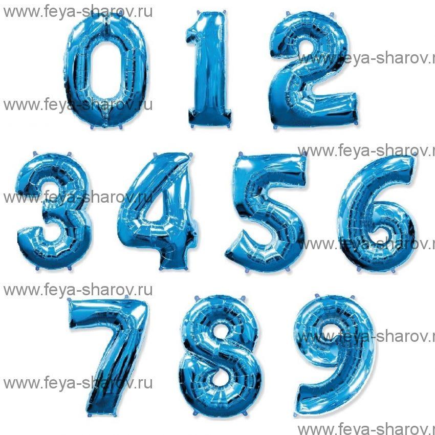 Шар-цифра 102 см Синий