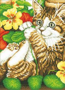 Алмазная мозаика «Игривый котенок (без подрамника)» 30x40 см