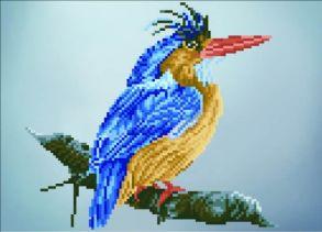 Алмазная мозаика «Птица на ветке» 30x40 см
