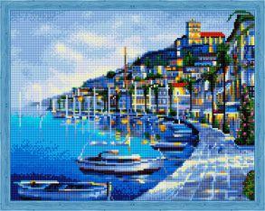 Алмазная мозаика «Вечерняя набережная» 40x50 см