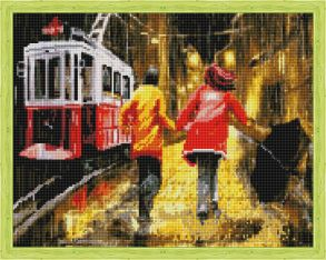 Алмазная мозаика «Последний трамвай» 40x50 см