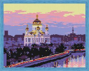 Алмазная мозаика «Храм Христа Спасителя» 40x50 см