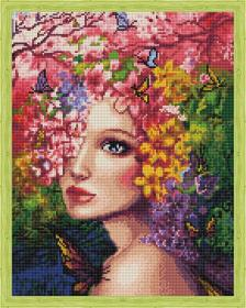 Алмазная мозаика «Весенняя фея» 40x50 см