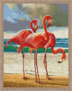 Алмазная мозаика «Танец розовых фламинго» 40x50 см
