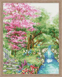 Алмазная мозаика «В гостях у весны» 40x50 см