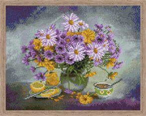 Алмазная мозаика «Сиреневый букет» 40x50 см