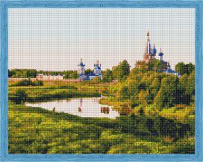 Алмазная мозаика «Вид на монастырь» 40x50 см