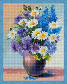 Алмазная мозаика «Полевой букет цветов» 40x50 см
