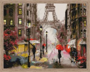 Алмазная мозаика «Романтика в Париже» 40x50 см