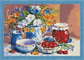Алмазная мозаика «Вишневое варенье» 30x40 см