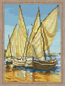 Алмазная мозаика «Скоро в море» 30x40 см